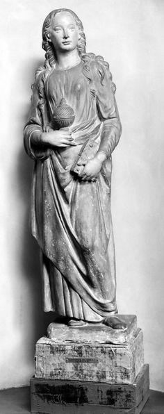 Magdalena S.XIX Itàlia Renaissance-style statuette of Saint Mary Magdalene