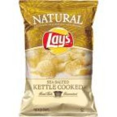 I'm learning all about Lay's Potato Chips Natural Kettle Cooked Sea Salt at @Influenster!