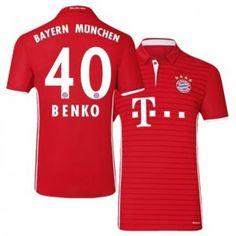 Bayern Munich Home 16-17 Season Red #40 Benko Soccer Jersey [I497]