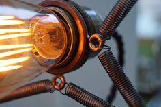 Microphone lamp, close-up
