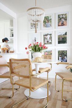LTI Boho Chic Project: white kitchen, brass sconces, sconces above kitchen window, subway tile, shaker cabinetry, white shaker cabinetry, kitchen faucet, boho kitchen, #LTIbohochic @lauratonopainteriors, www.ltinteriors.ca/north-haven-remodel