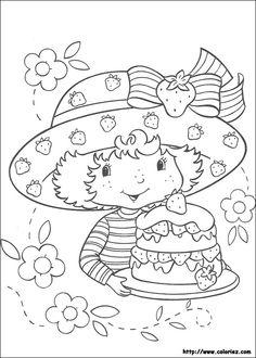coloriage charlotte et son gâteau