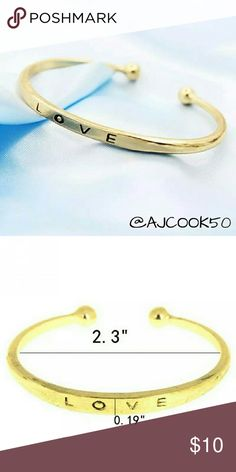 2 for $15Love Bracelet Beautiful an delicate gold bracelet with the word love engraved on too. Material:Alloy All Jewelry is 2 for  $15 Jewelry Bracelets