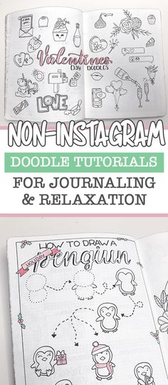 5 free resources to learn how to doodle - the petite planner Bullet Journal How To Start A, My Journal, Bullet Journal Inspiration, Journal Ideas, Nature Journal, Planner Doodles, Bujo Doodles, Sketch Note, Simple Doodles