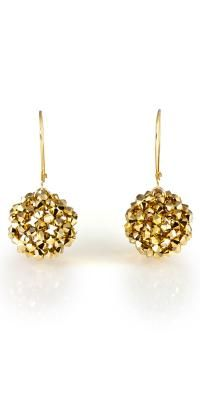 gold swarovski earrings! um, yes pls! herhattannyc.com