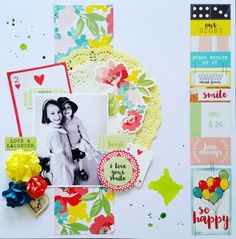 Kaisercraft : Finders Keepers Collection : So Happy layout by Amanda Baldwin Kids Scrapbook, Mini Scrapbook Albums, Scrapbook Paper Crafts, Scrapbooking Layouts, Mini Albums, Scrapbook Pages, Book Layouts, Happy Smile, Happy Day