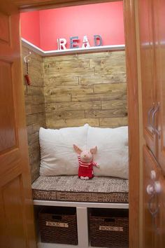 This reader turned a spare closet into a cozy reading nook! | thisoldhouse.com