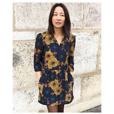 My Dress Made, Diy Vetement, Floral Tops, Lyon 2, Tunic Tops, Sewing, Knitting, Casual, Inspiration