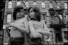 "Susan Meiselas, ""Dee and Lisa on Mott Street"" (1976) (all images courtesy of Susan Meiselas/Magnum Photos and Higher Pictures)"