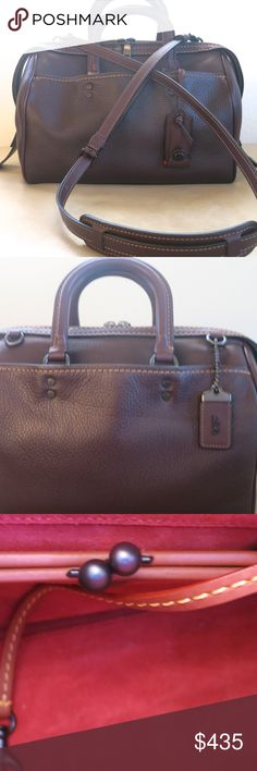 Coach Rogue Satchel - Oxblood COACH No RS-20216 ROGUE SATCHEL IN  GLOVETANNED PEBBLE LEATHER 78eca3e17f