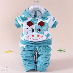 New baby suit 2015 Spring Autumn baby set cartoon rabbit velvet set twinset long sleeve set. Click visit to buy #BabyGirlClothingSet #BabyGirl #ClothingSet