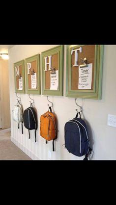 School bag organisation