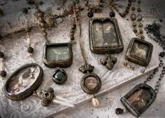 February Pictorial Necklaces by Parrish Relics