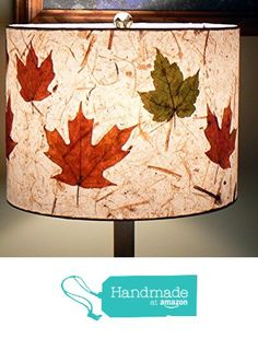 Paper Drum Lampshade, Pressed Autumn Leaves from Lite & Shadow Lamp Shades http://www.amazon.com/dp/B0166R6VJO/ref=hnd_sw_r_pi_dp_hnMfwb1Y5ATX8 #handmadeatamazon