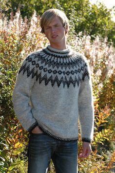 Icelandic Farmers Wool Pullover - White - Wool Knitting Kit - Wool Sweaters