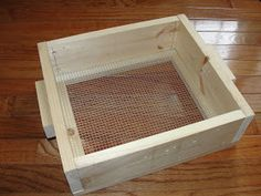 Mining sifter created by my talented husband   When my son wanted to have a gemstone mining party for his birthday, we had the task of cr...
