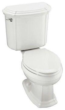 KOHLER K-3591-U-96 Portrait Elongated Toilet with Left-Hand Trip Lever and Insul - traditional - toilets - PlumbingDepot.com