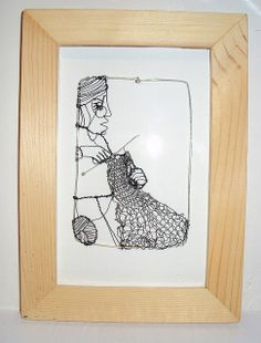 Knitting frenzy, wire drawing wall art | Flickr: Intercambio de fotos