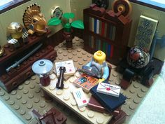 LEGO Archaeology Professor's Office MOC