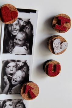 Cute idea from Family Chic for upcycling wine corks into fridge magnets with simple carving.
