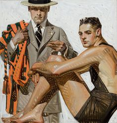 Illustrations by early 20th century artist Joseph Christian Leyendecker -- debonair!