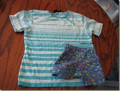 Turn an old adult shirt into toddler shorts with this simple #sewing #tutorial