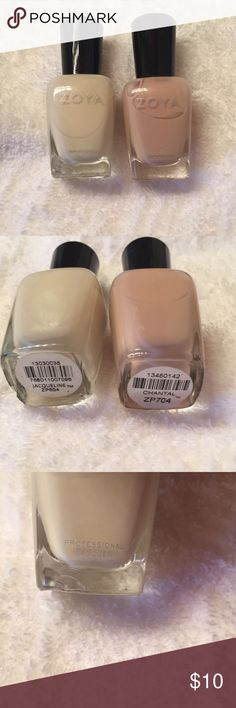 Zoya nail polish in Jacqueline and Chantal Two Zoya nail polishes in Jacqueline and Chantal. Used each only twice.  The bottle of Jacqueline has two chips (see pics). Zoya Makeup