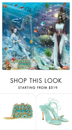 """""""Under The Sea"""" by lucky-ruby ❤ liked on Polyvore featuring Christian Dior, Roberto Cavalli, Manolo Blahnik and Blue"""
