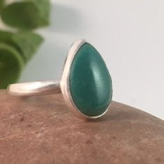 Turquoise Ring, Size 8, Sterling Silver  This ring features a square dark & light blue turquoise stone enrobed in a simple bezel and a very thin border. It sits atop a hand formed, single, 10-gauge sterling silver ring band. Ring details: Size-8 Dimension of ring top- 1/2 x 3/8 x 3/16 (approx) Weight- 3 grams (light weight, but very sturdy, everyday ring) Band Width: 2.5 mm (read note below, please) Zodiac Birthstone: Sagittarius (22 Nov - 21 Dec) Chakra Associations: Throat Energies…