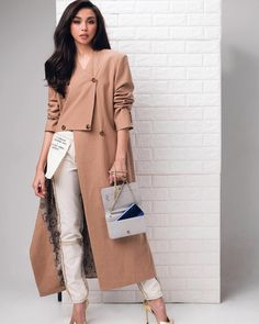 Filipina Actress, Lucky 7, Arab Fashion, Talent Show, Debut Album, All About Fashion, Duster Coat, Street Style, Actresses