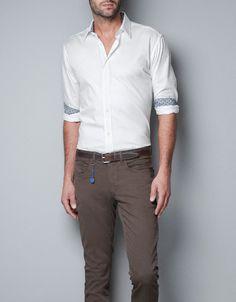 HERRINGBONE SHIRT - Shirts - Man - ZARA United States
