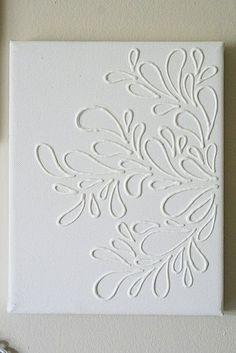 White glue on canvas
