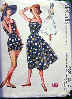 Beachwear Pattern 1950 s McCalls Pattern 4601 by anne8865 1950s Fashion 88f434defe35
