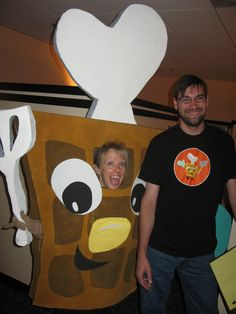 https://flic.kr/p/5yMoj6 | See?  The Waffle is even a T-shirt! | With Collin, PDM extraordinaire.  See how sweaty I am?  Man, that is a hot costume.
