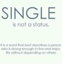 Single is not a status.. it's a word that best describes a person who is strong enough to live & enjoy life without depending on others --- So true! Why Men Get Over An Ex Faster Than Women