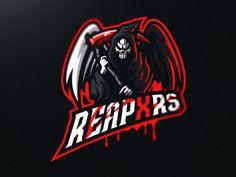 Reaper Mascot Logo design designed by Marvin Baldemor. Connect with them on Dribbble; Team Logo Design, Mascot Design, Graphic Design Services, Portal Logo, American Lion, 10 Logo, Esports Logo, Landing Page Design, Game Logo