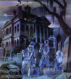 Walt Disney's Haunted Mansion...I could live there!! #DisneylandisbetterthanWDW