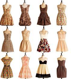 vestidos de otoño para chicas con cuerpo triángulo invertido :3 .. <3                                                                                                                                                                                 Más