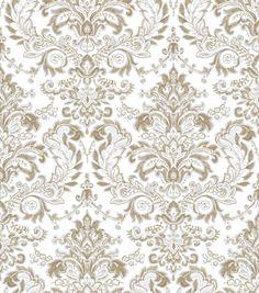 Tapeta CRISTIANA MASI AMAZZONIA 22001, ornament w odcieniach kremu i beżu Thing 1, Damask Wallpaper, Leroy Merlin, Store, Ornaments, Rugs, Gold, Home Decor, Products