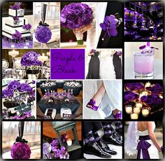 PURPLE & BLACK WEDDING inspiration by Rock your Locks     http://www.facebook.com/pages/Rock-your-Locks/133025596754055