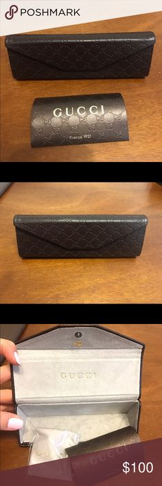 Authentic Gucci eyeglasses case Authentic Gucci eyeglasses case, brand new with certificate of authenticity. Folds into a thin case as shown in last picture Gucci Accessories Glasses