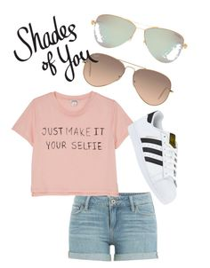 """""""Shades of You: Sunglass Hut Contest Entry"""" by jmvflowers on Polyvore featuring Tiffany & Co., Ray-Ban, Paige Denim, Monki, adidas and shadesofyou"""