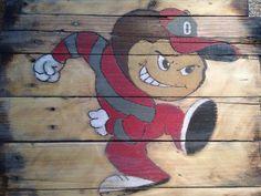 Ohio State Brutus Buckeye pallet painting.