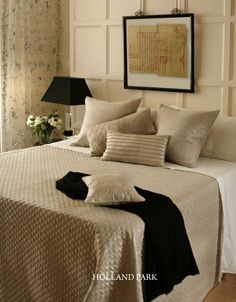 Holland Park Metallic Linen Luxury Bedspreads, Holland Park, Silk Taffeta, Seat Pads, Bed Covers, Bed Spreads, Linen Bedding, Metallic, Pure Products