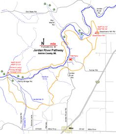 Michigan River Map | Maps | Pinterest | Rivers