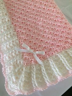 Crochet purple and white baby blanket, handmade lilac baby blanket, purple baby afghan, crochet baby girl gift, handmade baby shower gift Baby Afghans, Baby Girl Blankets, Crochet Baby Blanket Free Pattern, Crochet Patterns, Christmas Crafts Sewing, Diy Crafts Crochet, Purple Baby, Pink, Girls Hair Accessories