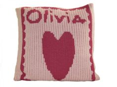 A personalized heart pillow is the perfect accent for a nursery filled with love.# Nursery #pinparty