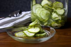 quick fridge dill pickles