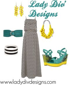 """Maxi Dress Outfit"" by ladydivdesigns on Polyvore"