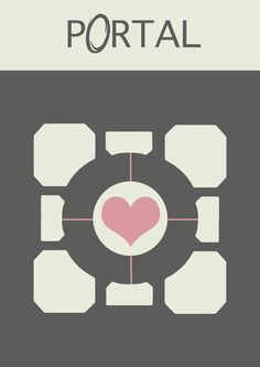 another minimalist poster for a great game portal, and the companion cube Minimalist Portal Video Game Posters, Video Game Art, Star Citizen, Wii, Deco Gamer, Companion Cube, Aperture Science, Portal 2, Game Portal